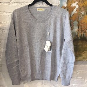 Grey Merano Cotton Sweater